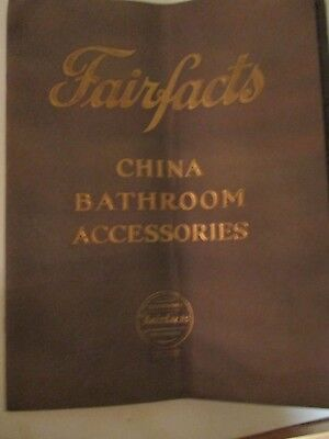 Collectible/ Vintage original 1927 Fairfacts China Accessories Brochure