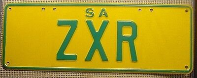 ZXR Green on Yellow License Plate