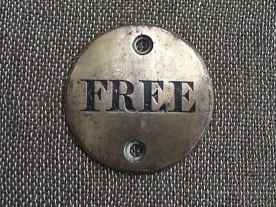 Antique Black Americana Slave / slavery brass name plaque with surname of free