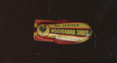 Old Tin Toy Clicker Advertising Peters Weatherbird Shoes
