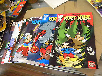 IDW 2015 7 recent issues MICKEY MOUSE #7 to #13 reg $28.00 qq