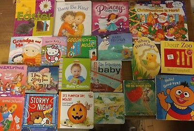 Lot of 40 Board Toddler Hardcover Picture DayCare Kid Child Books - UNSORTED G26