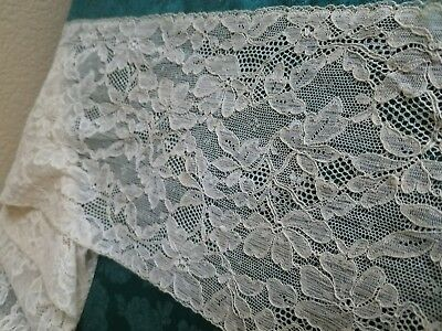 """Intricate 6"""" wide Antique French Alencon lace  trim  cotton 4 yards"""