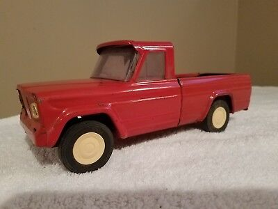 TONKA VINTAGE PICK-UP TRUCK JEEP TOY TRUCK RED DROP TAILGATE PRESSED STEEL 1960s