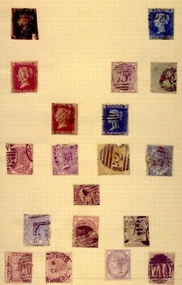 UK: COLLECTION of STAMPS  including PENNY BLACK & BLUE   NO   RESERVE