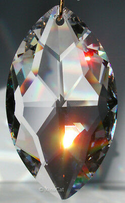8745-50mm Strass SWAROVSKI Marquis Cats Eye Austrian Crystal Prism Suncatcher 2""