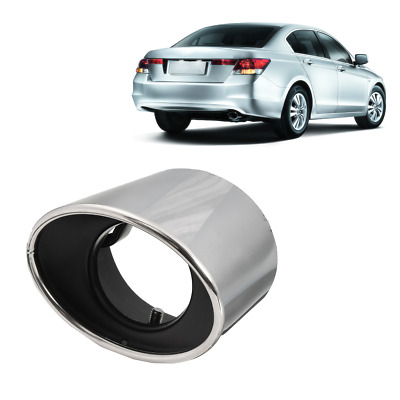 Stainless Steel Exhaust Tail Muffler Tip Oval Pipe For Honda Accord 2008-2012