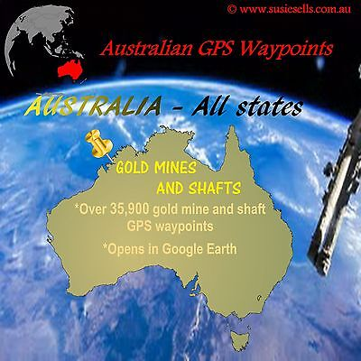 35000+ OZ Gold Location GPS points on CD. Use with Google Earth. Find Gold Now!