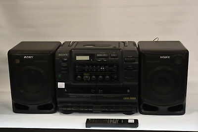 Sony CFD-550 Portable CD Twin Radio Cassette Recorder - Tape Deck