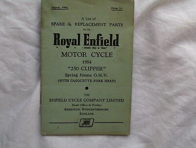 Royal Enfield 250 Clipper , Spare & Replacement Parts 1954