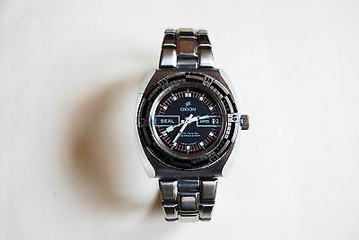 Vintage ORION 17 jewel diver style watch, swiss made, manual wind, date