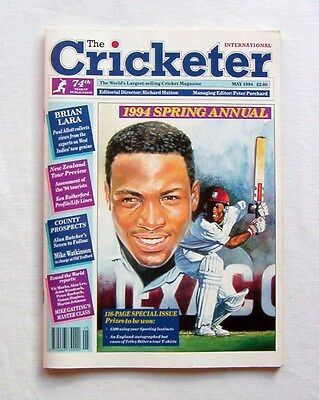 The Cricketer International – May 1994 Spring Annual – Brian Lara Cover