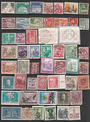 Austria, Switzerland  Mix ,50 Stamps, All Different, Used, Lot 3