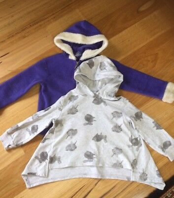 Girls Jumpers Size 5 Witchery Bunny Jumper And Purple