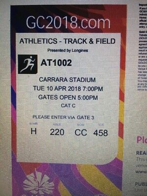 Commonwealth Games Tickets Athletics