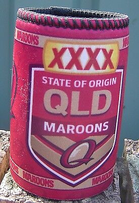 XXXX State of Origin Qld Maroons  New Stubby Holder with Tag & Unused