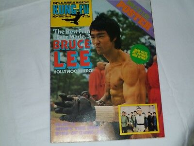 Kung Fu Monthly BRUCE LEE No 6 Vintage Martial Arts Magazine  from the 1970s