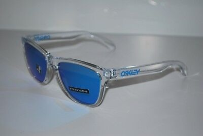Oakley Frogskins Sunglasses OO9013-D055 Crystal Clear/Prizm Sapphire NEW