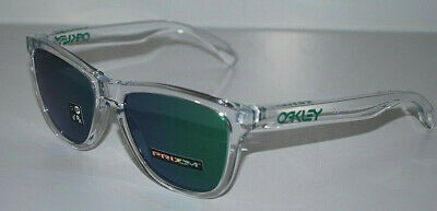 Oakley Frogskins Sunglasses OO9013-D655 Crystal Clear/Prizm Jade NEW