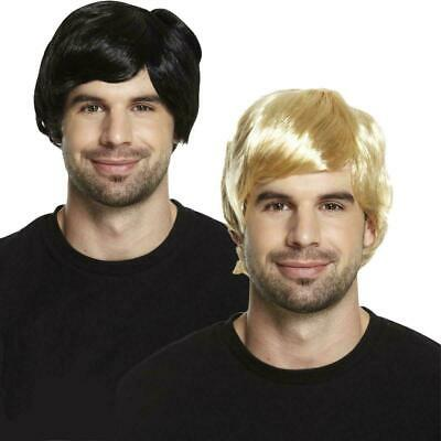 New Adult Mens 60s 70s 80s Short Boy Band Wig Fancy Dress Accessory