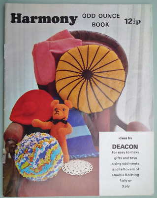 Vintage 70s Knitting Patterns ODD OUNCE BOOK teddy toys tea cosy beret original