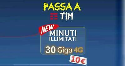 Passa a Tim 30 GB e MINUTI ILLIMITATI a 10 Euro - x Wind, 3 e Virtuali no Vodafo