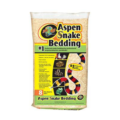 New Zoo Med Aspen Snake Bedding Reptile Accessory Care (4.4l)
