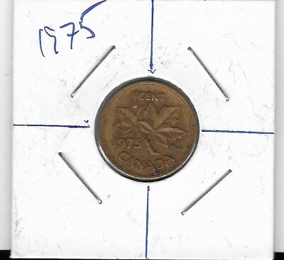 Canada 1 Cent Penny Collection - 1975 Rotated Die