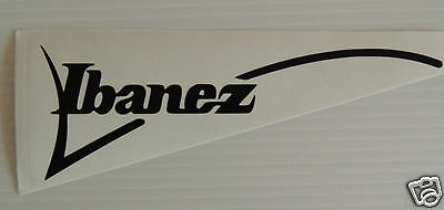 2 X Ibanez Guitar logo Sticker/Decal.  8 inch  **NOT FOR HEADSTOCKS**