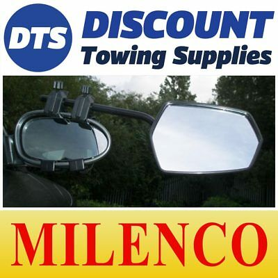 Milenco MGI Steady View Caravan Towing Mirrors Twin Pack & Carry Bag 3698