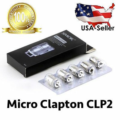 Authentic 5-PACK SMOK TFV4 Micro-CLP2 Clapton Dual Coil - U.S SELLER