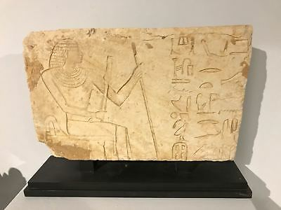 Ancient Egyptian Relief in hard limestone VI Dynasty (2278 BC - 2216 BC )
