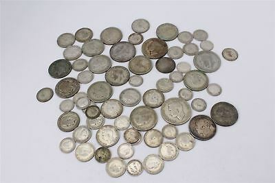 Lot of Vintage Pre 1947 George V&VI Mixed Denomination Silver Coins -333g