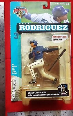 2000 Alex Rodriguez #3 MLBPA Figurine McFarlane Spawn Big Leaguer SERIES 1