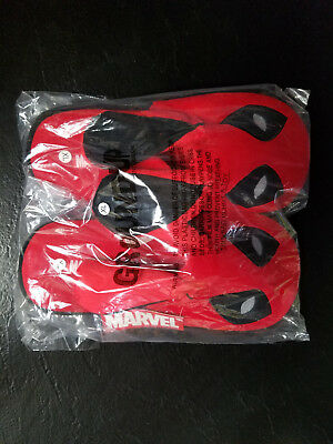 NEW- Loot Crate Wearables Exclusive Deadpool Bunny Slippers Size X-Large