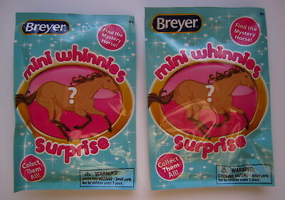 Breyer Horse Toy #97260 Mini Whinnies Surprise Blind Bag~Lot of 2 Packages~NIP
