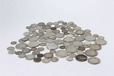 Lot of Vintage Pre 1947 George V&VI Mixed British Circulated Silver Coins -459g