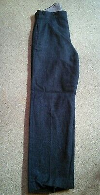 1950s Military gents wool trousers, reenactment, vintage, high waisted