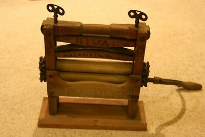 Antique Rival Clothes Wringer washing machine top American Wringer 1898