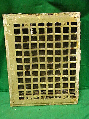 Antique 1920's Cast Iron Heating Grate Unique Square Design 13.75 X 10   F