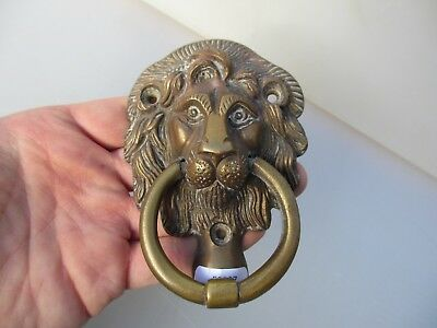 Late Vintage Brass Lion Head Door Knocker Lions Architectural Old