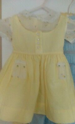Vintage little girls yellow dress from 1950's