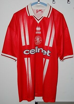 Errea Middlesbrough Fc 1998 New Vintage Football Jersey 90's L