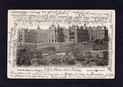 Old postcard of The Western Infirmary, Glasgow, Scotland 1903.