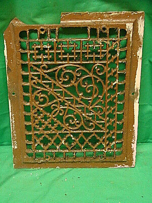 Antique Cast Iron Heating Grate Only Register Vent Floor Wall Unique 14 X 11  C