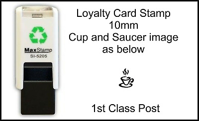 Cup and Saucer Loyalty Card Stamp Professional Quality Self Inking 10mm