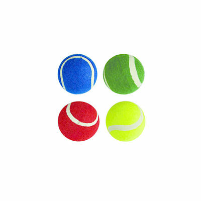 Coloured Tennis Balls - Pack Of 12