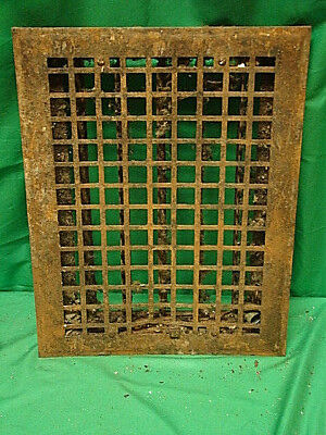 Vintage 1920S Iron Heating Grate Square Design 16 X 12 Wt