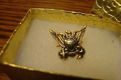 Vintage U.S. Coast Guard Gold tone Lapel Pin-Button brooch with Safety Clasp