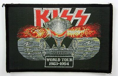 KISS 'World Tour 1983-1984' Vintage Sew-on Woven Patch